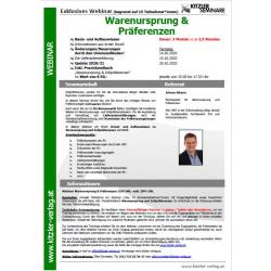 Webinar Warenursprung & Präferenzen